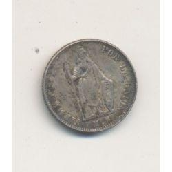 Pérou - 1/2 Real - 1858 - monnaie de transition