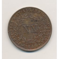 Portugal - Maria II - 20 Reis - 1849