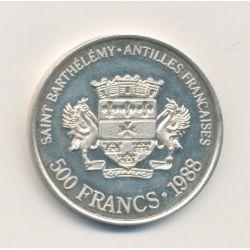 Saint Barthelemy - 500Francs/500 Riksdaler - 1988 - argent