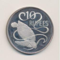 Seychelles - 10 Roupies - 1974