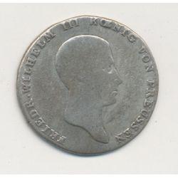 Allemagne - Prusse - 1/6 Thaler - 1814 A