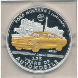Palau - 5 Dollars 2012 - 125 ans automobile - Ford mustang I