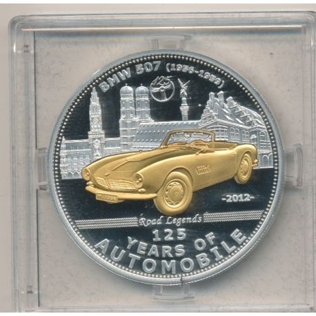 Palau - 5 Dollars 2012 - 125 ans automobile - BMW 507