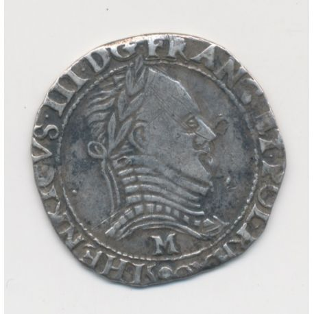 Henri III - Demi franc - 1590 M Toulouse