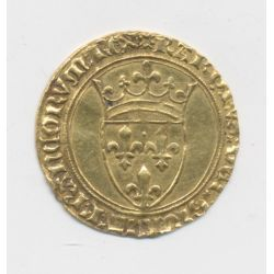 Charles VI - Écu d'or à la couronne - Montpellier - point 4e