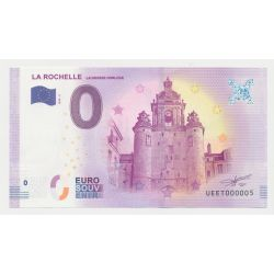 Billet Touristique O Euro - Grosse Horloge - 2018 - Numéro 000005