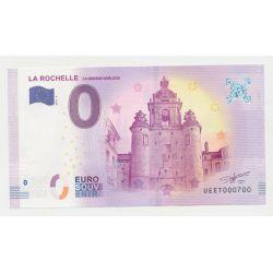 Billet Zéro € - Grosse Horloge - N°700 - 2018