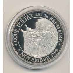 Médaille - Coup d'état du 18 brumaire - 9 novembre 1799 - Collection Napoléon Bonaparte