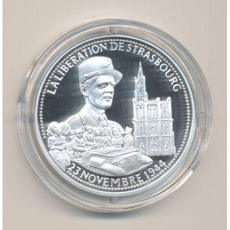Médaille - Libération de paris - Général Leclerc - 23 novembre 1944 - La France Victorieuse - argent