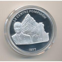 Médaille - Le centre Pompidou - 1977 - Les Joyaux de Paris - argent