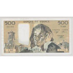 500 Francs Pascal - 1991 - manque encre - bulle - 25186 - T.345
