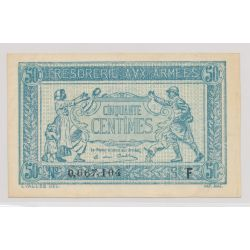 Trésorerie aux armées - 50 Centimes - 1917 - Alphabet F