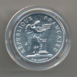 Piéfort - 100 Francs Droits de l'homme - 1989 -  brillant universel