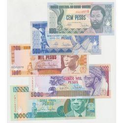 Guinée-Bissau - Série 5 Billets - NEUF
