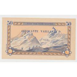 Billet 50 Vaillants - Mouvement de jeunesse - 1930/1940 - Petit format 13x7,5cm