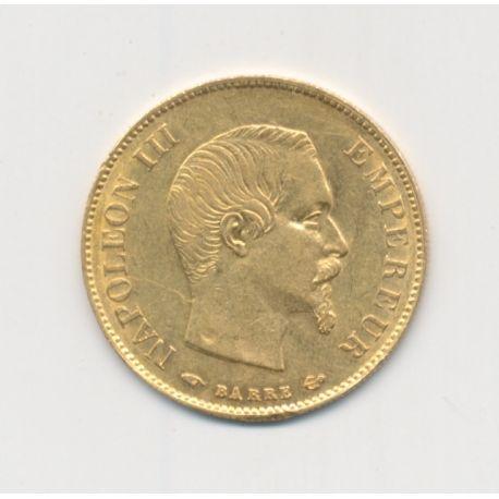 Napoléon III Tête nue - 10 Francs Or - 1859 A Paris - grand module