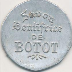 Timbre-monnaie - 50 Centimes bleu sur fond blanc Botot