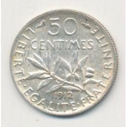 50 Centimes Semeuse - 1912