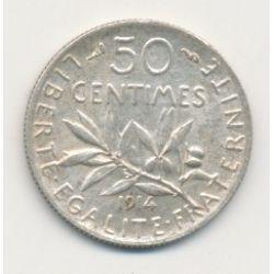 50 Centimes Semeuse - 1914