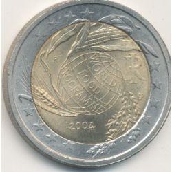 2€ Italie - 2004 - programme mondial alimentaire