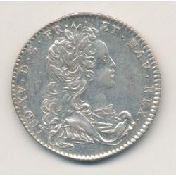 Jeton - Louis XV - buste habillé - Late cuncta profundit