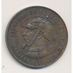 Monnaie satirique - Module 10 centimes - Napoléon III
