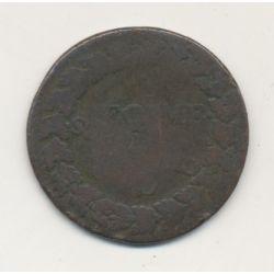 5 Centimes Dupré - surfrappe du décime