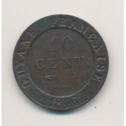 Guyane - 10 centimes - 1846 A