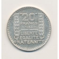 20 Francs Turin - 1933 - rameaux courts