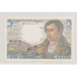 5 Francs Berger - 2.06.1943