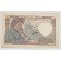 50 Francs Jacques coeur - 13.06.1940