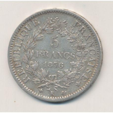 5 Francs Hercule - 1876 K Bordeaux