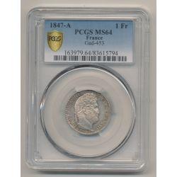 Louis Philippe I - 1 Franc - 1847 A Paris - PCGS MS64 83615794