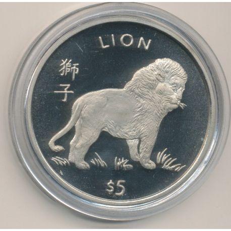 Libéria - 5 Dollars - 1997 - lion