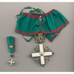 Italie - Ordre du mérite - Commandeur - Ordonnance et réduction